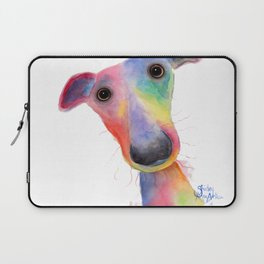 Nosey Dog Whippet / Greyhound ' HANK ' by Shirley MacArthur Laptop Sleeve