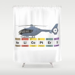 Civil Helicopters Chemistry Shower Curtain