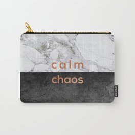 Calm Chaos, Typography Carry-All Pouch
