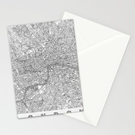 London Map Line Stationery Cards