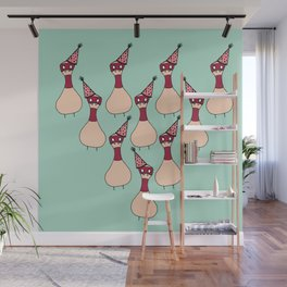 Party Pins Wall Mural