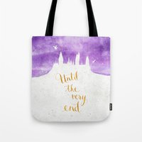 snape Tote Bags featuring Until the very end by Earthlightened