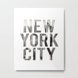 Inspirational Quote New York City Photo Quote Print Typography Art Quote New York Quote Photography Metal Print