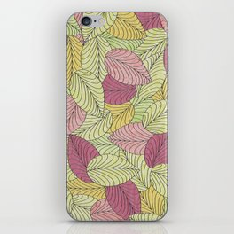 Vector Seamless Leaves Pattern iPhone Skin