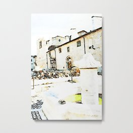 L'Aquila: church destroyed by the earthquake Metal Print