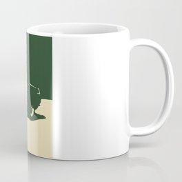 MGB, Racing Green on Cream Coffee Mug