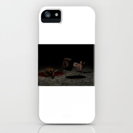 bebe humano contra reptiliano iPhone Case