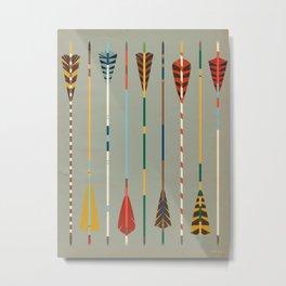 Vintage Arrows Metal Print