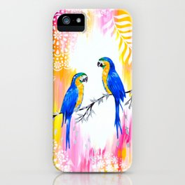 Macaws and Happiness iPhone Case