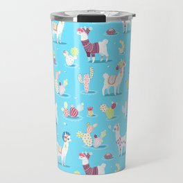 Alpaca Pattern Travel Mug