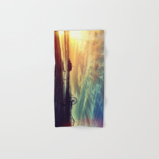 Photography + Color - Santa Monica Sunset Hand & Bath Towel