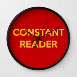 Constant Reader Wall Clock