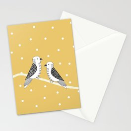 Chirping birds Yellow pallete Stationery Cards