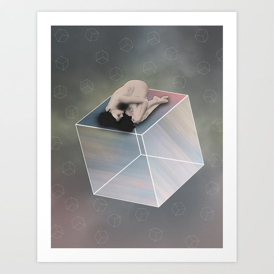 Cube Travel Art Print