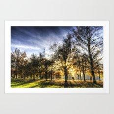 Autumn in the Park Pastel Art Print