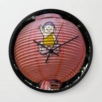 korean Wall Clocks featuring Korean Lamp by Benedict Middleton