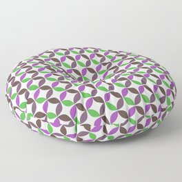 Abstract ultra violet green geometric quatrefoil pattern Floor Pillow