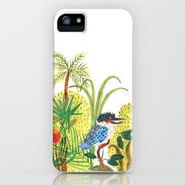 dacelo bird in a jungle iPhone Case