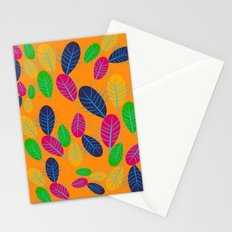 Fall Leaves Pop Pattern Design Stationery Cards