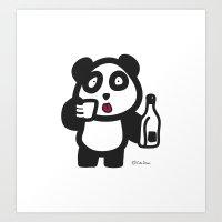Drunk Panda Art Print
