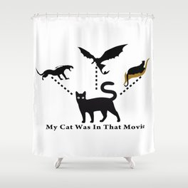My Black Cat's Acting Career Shower Curtain
