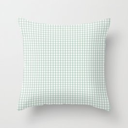 Gingham in Sage Throw Pillow
