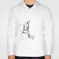 toilet Hoodies featuring mister toilet by mars clarke