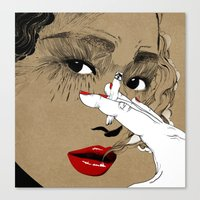 smoking Canvas Prints featuring Smoking by Sarah Howell