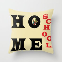 I Love Home School Throw Pillow
