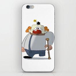 Sad, One-Legged Clown iPhone Skin