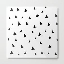 Disorganized Triangles Metal Print