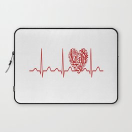 Math Teacher Heartbeat Laptop Sleeve