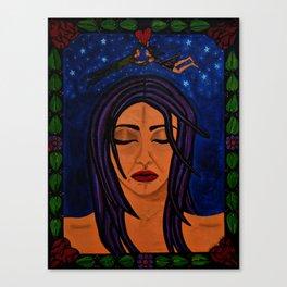 Estrellado, Indigo Sueno Azul (Starry, Indigo Blue Dream) Canvas Print