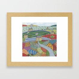 island patchwork Framed Art Print