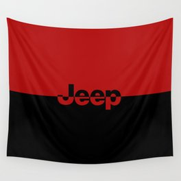 RED and Black Wall Tapestry