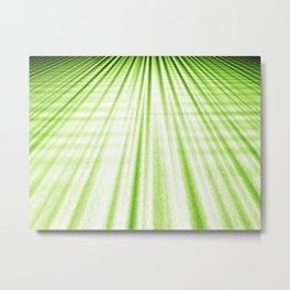 green perspective stripes Metal Print
