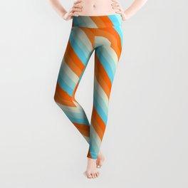 Goldfish Diagonal Striped Pattern Leggings