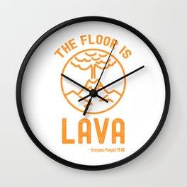 The Floor Is Lava - Funny Pompeii Ancient History Joke Wall Clock