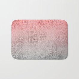 Oriental ornament pattern Rose Quartz Bath Mat
