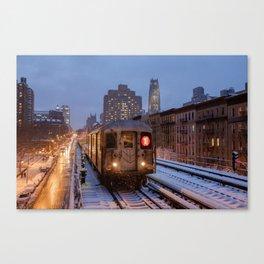MTA NYC Subway - 125 Street Viaduct (Manhattan) Canvas Print