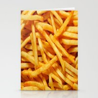 french fries Stationery Cards featuring French Fries by I Love Decor