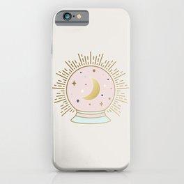 Magical Crystal Ball - tarot illustration iPhone Case