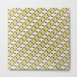 Golden Woven Basket-Look Metal Print
