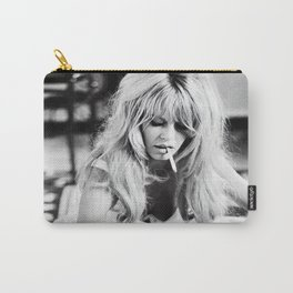 Brigitte Bardot Playing Cards, Black and White Photograph Carry-All Pouch