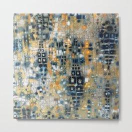 Scales- Metallic Abstract Oil Pastel  Metal Print