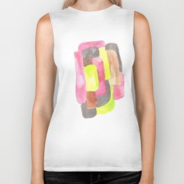 171013 Invaded Space 1 |abstract shapes art design |abstract shapes art design colour Biker Tank