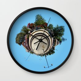 Planet Train Station Wall Clock