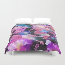 A Bright Beautiful Mess - Abstract Floral Duvet Cover