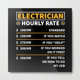 Electrician Electrician Gifts Electric Power Metal Print