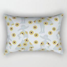 Audrey on the flower meadow Rectangular Pillow